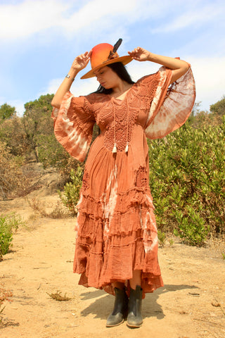 A Honeywood Exclusive A Honeywood Exclusive Handmade Antique Crochet Maxi Dress S/M