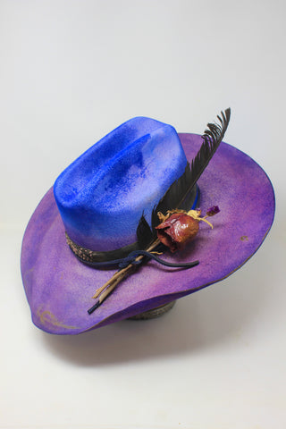 A Limited Edition Honeywood Exclusive Lone Hawk Hats Hand Dyed Ombre Hats