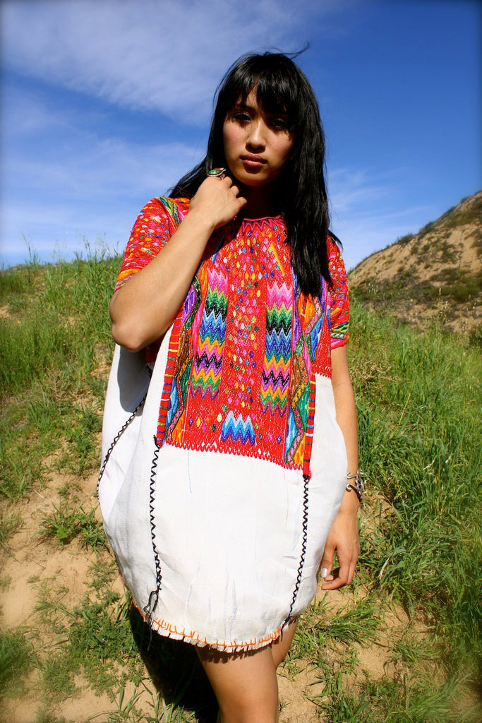 Amazing! Vintage Hand Embroidered Huipil