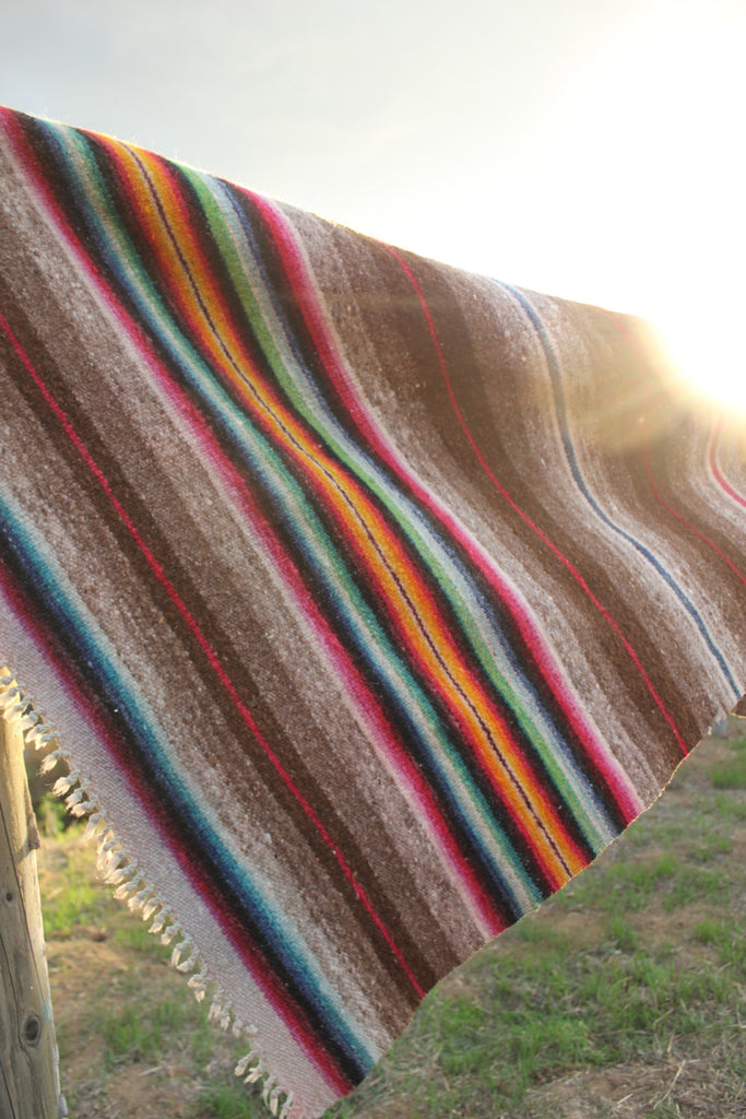 1940s Banded Mexican Blanket