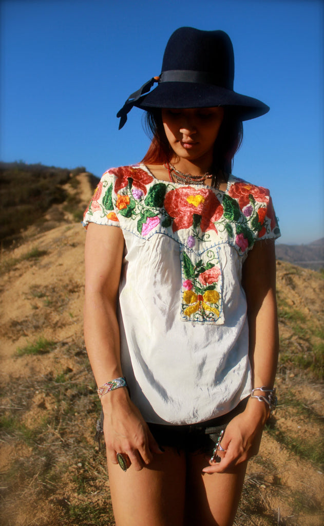 1940s Mexican Peasant Blouse