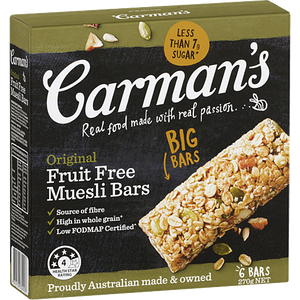 Carman's Original Fruit Free Muesli Bar