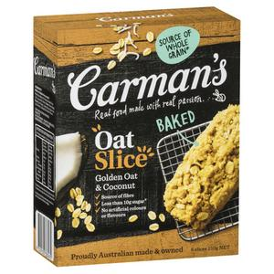 Carman's Golden Oats & Coconut Oat Slice