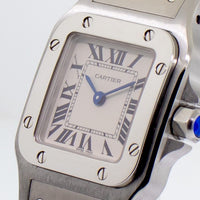 Cartier Santos Collection Galbee Stainless Steel Lady 24mm Quartz W20056d6-Da Vinci Fine Jewelry