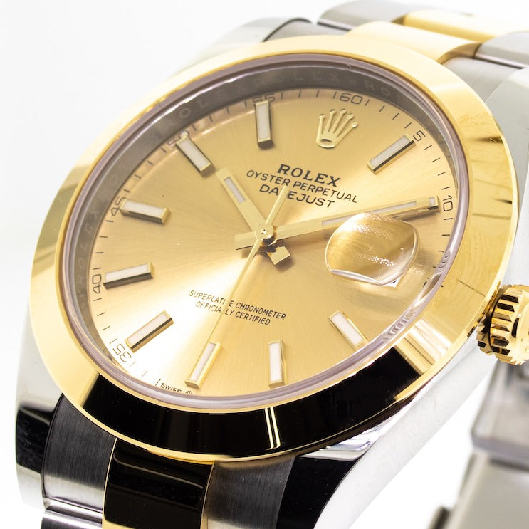 Rolex Steel and Yellow Gold Rolesor Datejust 41mm Champagne Dial 126303 Chio-Da Vinci Fine Jewelry