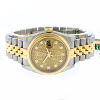 Rolex Datejust 36mm Yellow Gold & Steel Champagne Jubilee Diamond Dial 116203-Da Vinci Fine Jewelry