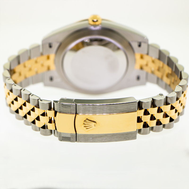 Rolex Datejust 41mm Yellow Gold & Steel Black Index Dial & Fluted Bezel 126333-Da Vinci Fine Jewelry