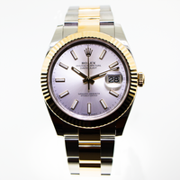 Rolex Datejust 41mm Yellow Gold & Stainless Steel Silver Index Dial & Fluted Bezel 126333-Da Vinci Fine Jewelry