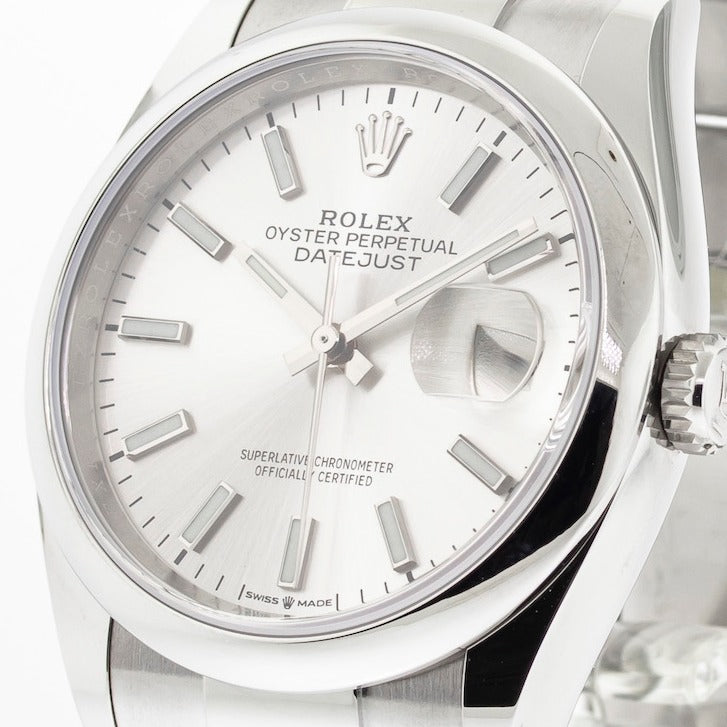 Rolex Datejust 36mm Stainless Steel Silver Index Dial & Domed Bezel 126200-Da Vinci Fine Jewelry