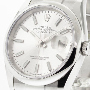 Rolex Datejust Steel 36mm Domed Bezel Silver Index Dial Oyster Bracelet 126200-Da Vinci Fine Jewelry