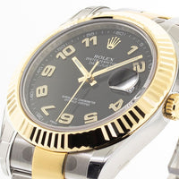 Rolex Datejust II Two Tone Stainless Steel & Yellow Gold 41mm Black Dial 116333-Da Vinci Fine Jewelry