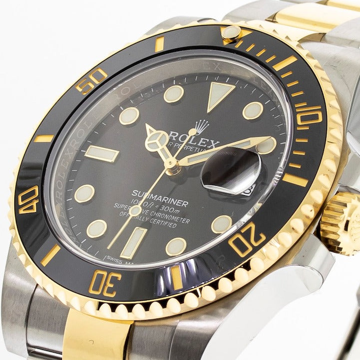 Rolex Submariner Date 40mm Yellow Gold & Steel Black Dial & Black Bezel 116613-Da Vinci Fine Jewelry