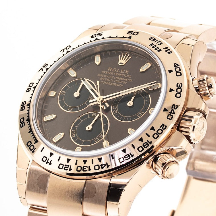 Rolex Daytona 40mm Everose Gold Chocolate Dial & Gold Bezel 116505-Da Vinci Fine Jewelry