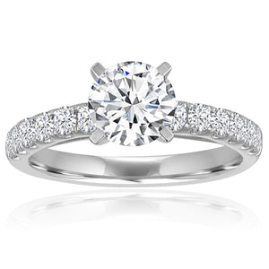 Round Diamond Split Prong Cathedral Setting-Da Vinci Fine Jewelry