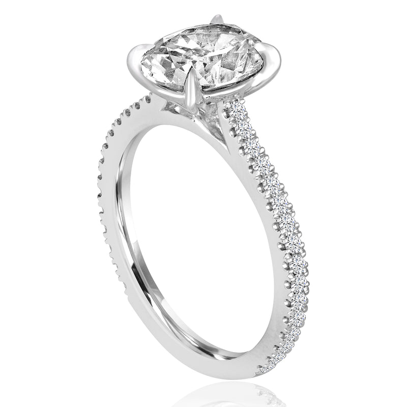 Round Diamond Cathedral Setting-Da Vinci Fine Jewelry