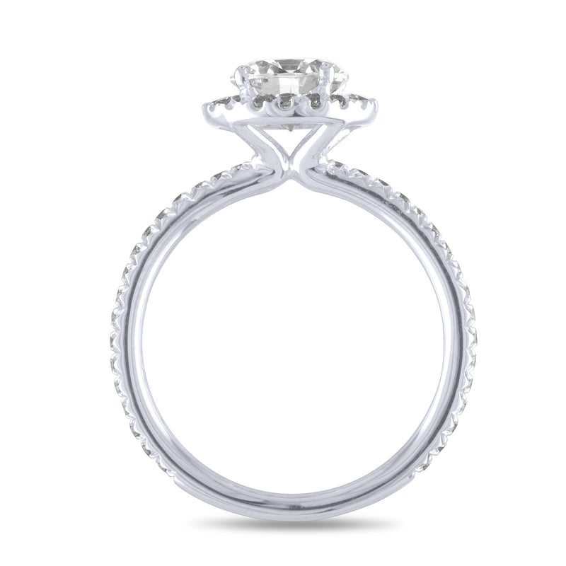 Oval Swan Halo Engagement Ring-Da Vinci Fine Jewelry