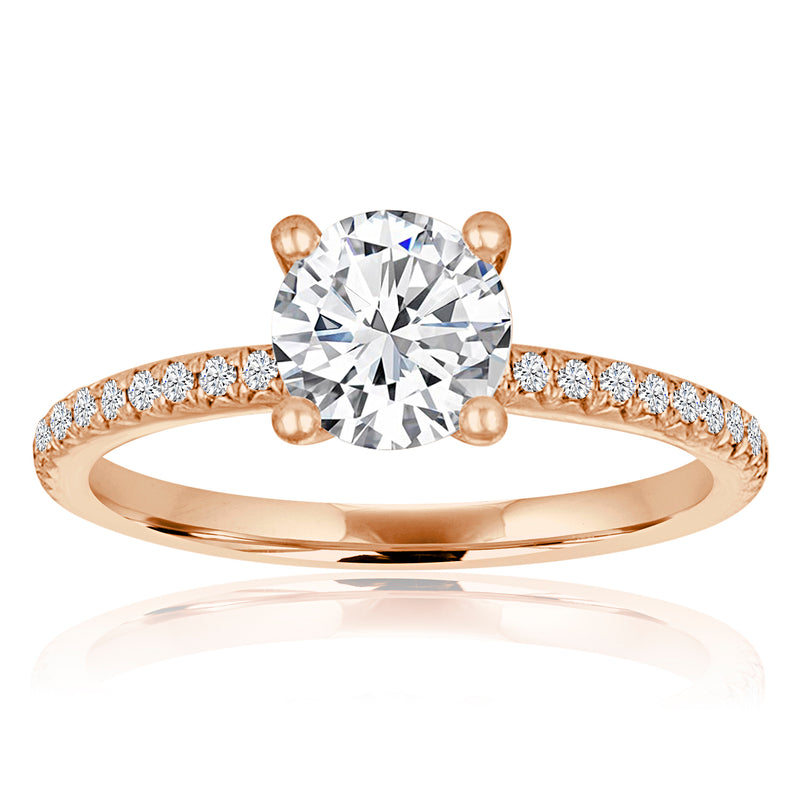 Round Diamond Pave Setting-Da Vinci Fine Jewelry