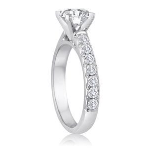 Round Diamond Fishtail Setting-Da Vinci Fine Jewelry