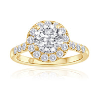 Round Diamond Pave Halo Setting-Da Vinci Fine Jewelry