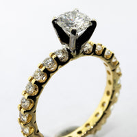 0.80ct Tiffany Engagement Ring G/VS1 Stone w/ 14k Yellow Gold-Da Vinci Fine Jewelry