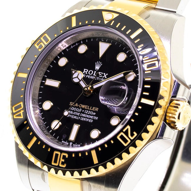 Rolex Sea-dweller Steel And Yellow Gold Rolesor 43mm With Black Dial 126603-Da Vinci Fine Jewelry