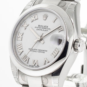 Rolex Datejust 31mm White Roman Dial Oyster Band 178240-Da Vinci Fine Jewelry