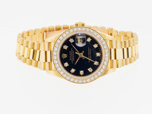 Rolex Datejust Yellow Gold 26mm Diamond Bezel and Black Diamond Dial 79178-Da Vinci Fine Jewelry