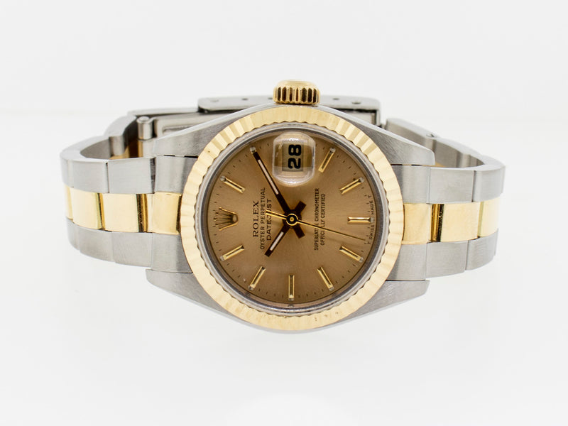 Rolex Datejust Steel and Yellow Gold 26mm Fluted Bezel Champagne Dial 79173-Da Vinci Fine Jewelry