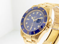 Rolex Submariner Yellow Gold with Date 40mm Blue Dial 116618bl-Da Vinci Fine Jewelry