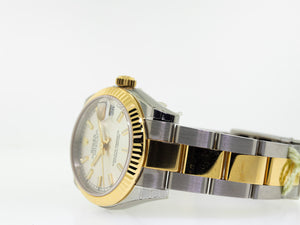Rolex Lady-Datejust 31mm Yellow Gold & Steel Silver Index Dial 178273-Da Vinci Fine Jewelry