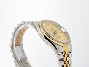 Rolex Datejust Stainless Steel Yellow Gold 36mm Champagne Diamond Dial 16013-Da Vinci Fine Jewelry
