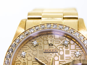 Rolex Lady-Datejust 31mm Yellow Gold Jubilee Diamond Dial & Bezel 68278-Da Vinci Fine Jewelry