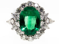 Natural GIA Emerald Ring 6.51ct Extra-Fine Emerald Oval with 3.06ct Diamonds-Da Vinci Fine Jewelry