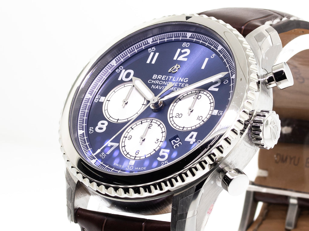 Breitling Aviator 8 B01 Chronograph 43mm Steel Case Blue Dial AB0117131C1P2-Da Vinci Fine Jewelry