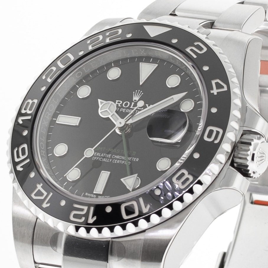 Rolex GMT-Master II 40mm Stainless Steel Black Dial & Bezel 116710-Da Vinci Fine Jewelry
