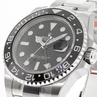Rolex GMT Master II Stainless Steel 40mm Black 24 Hour Bezel 116710-Da Vinci Fine Jewelry