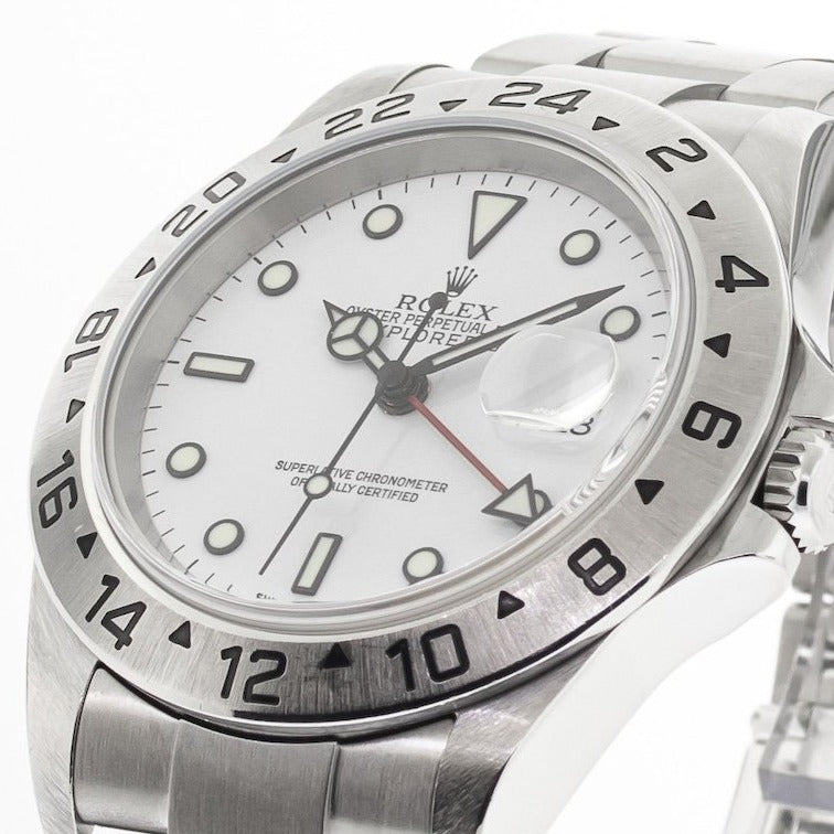 "Rolex Explorer II Stainless Steel 40mm White Dial ""Polar"" 16570-Da Vinci Fine Jewelry"