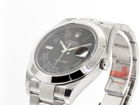 Rolex Datejust II Stainless Steel 41mm Charcoal Roman Dial Smooth Bezel 116300-Da Vinci Fine Jewelry