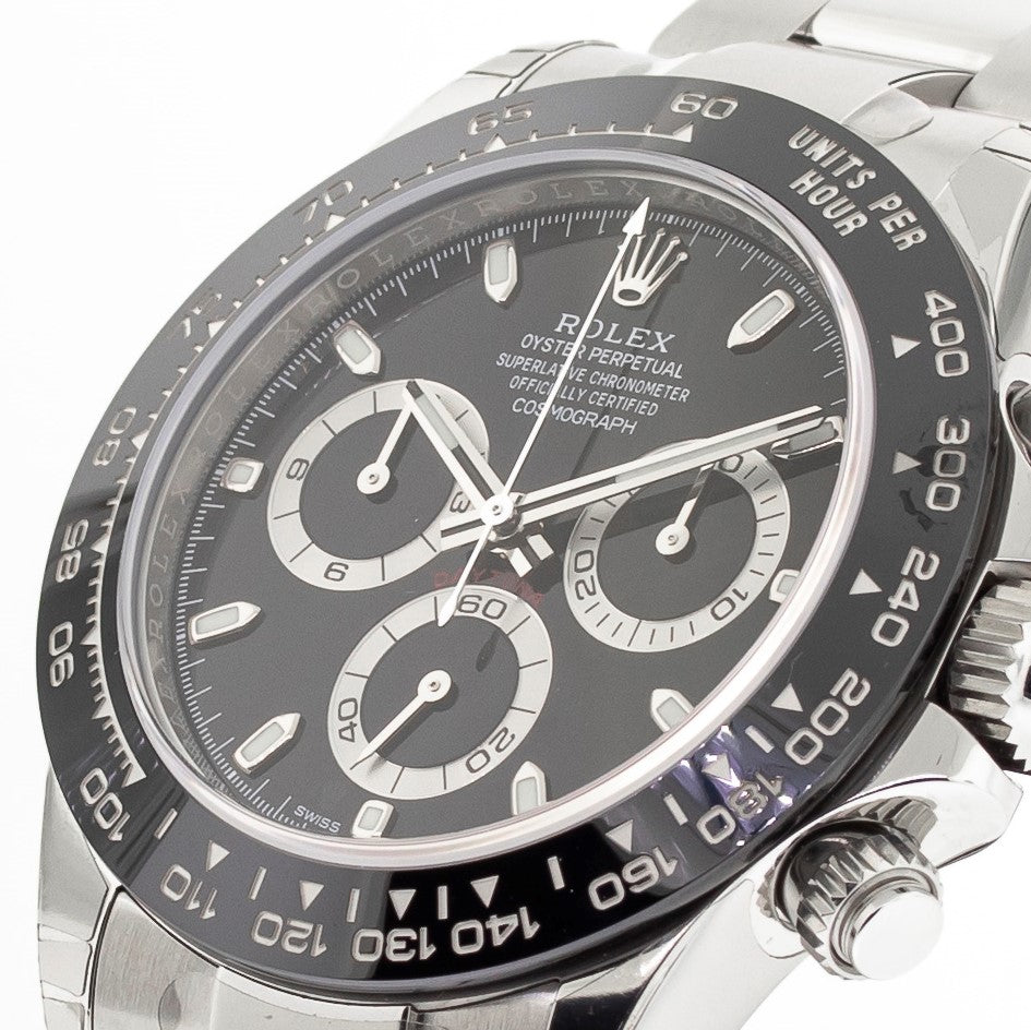 Rolex Daytona 40mm Stainless Steel Black Dial & Bezel 116500-Da Vinci Fine Jewelry