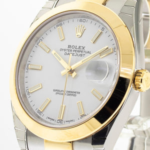 Rolex Datejust II Steel and Yellow Gold Rolesor 41mm White Stick Dial 126303-Da Vinci Fine Jewelry