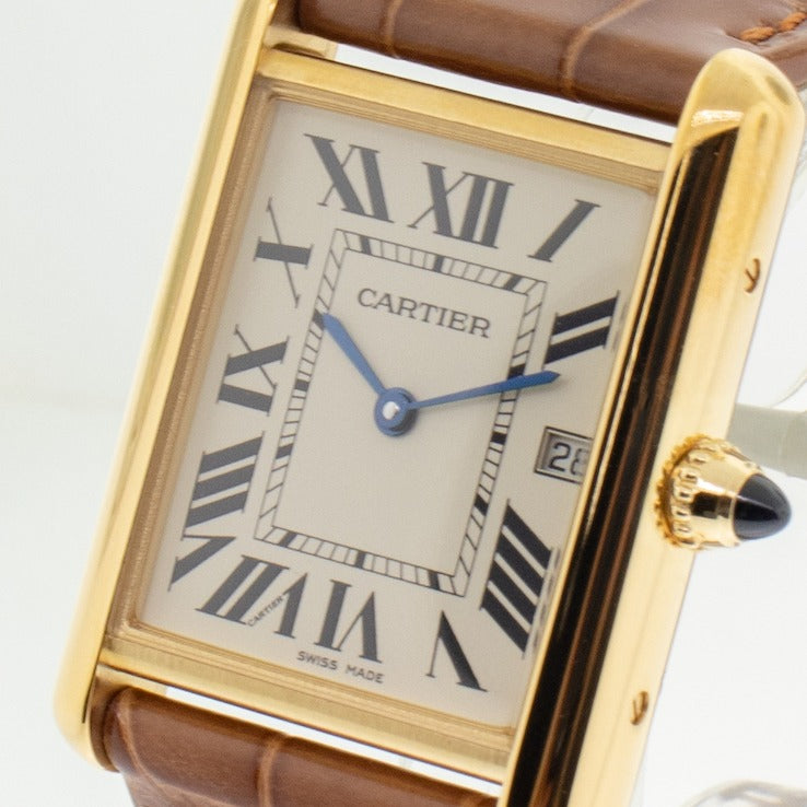 Cartier Tank Louis 18k Yellow Gold Ladies 25.5mm Quartz W1529756-Da Vinci Fine Jewelry