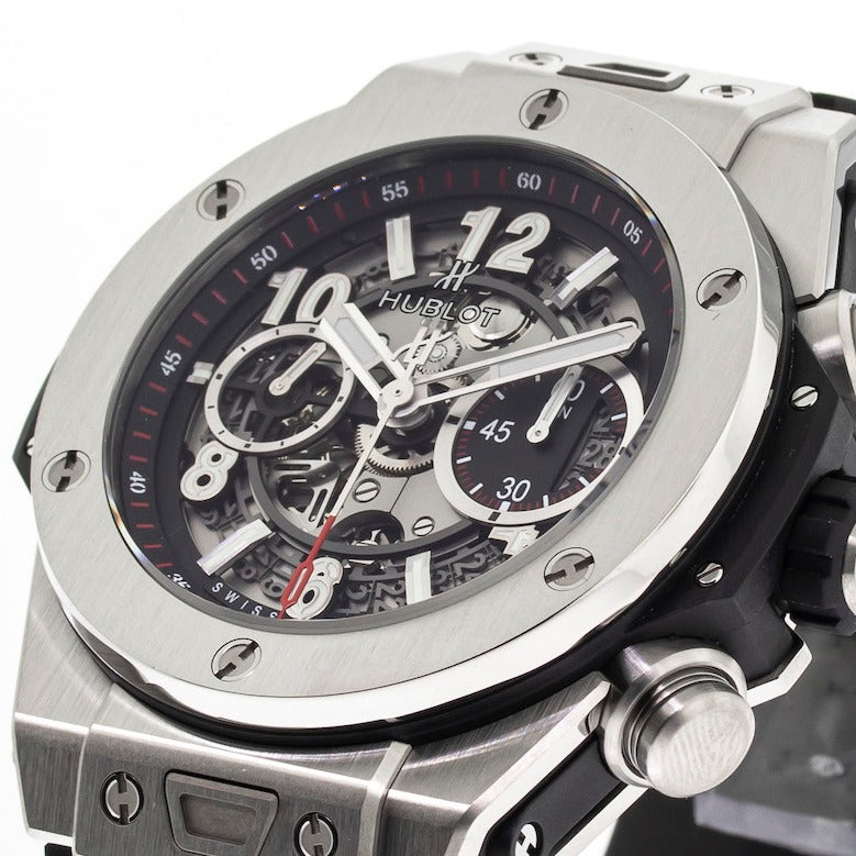 Hublot Big Bang Unico 45mm Titanium Black Dial 411.NX.1170.RX-Da Vinci Fine Jewelry