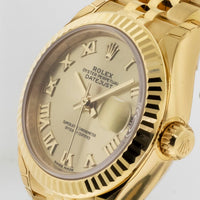 Rolex Lady- Datejust Yellow Gold 28mm Champagne Roman Dial 279178chrj-Da Vinci Fine Jewelry