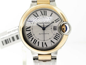 Cartier Ballon Bleu 33mm Rose Gold & Steel W2BB03-Da Vinci Fine Jewelry