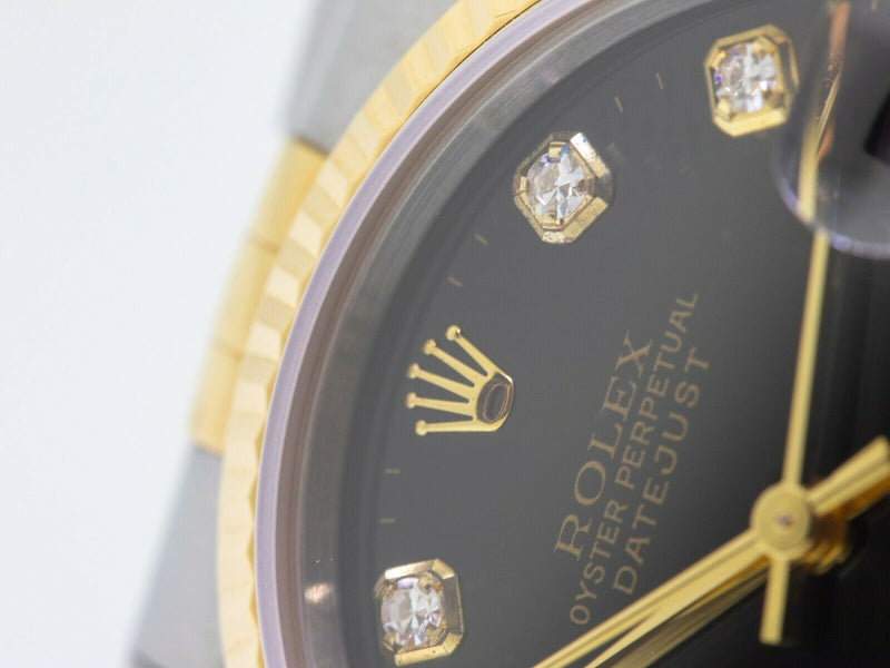 Rolex Lady-Datejust Steel and 18k Yellow Gold 31 mm - Diamond Dial 78273-Da Vinci Fine Jewelry