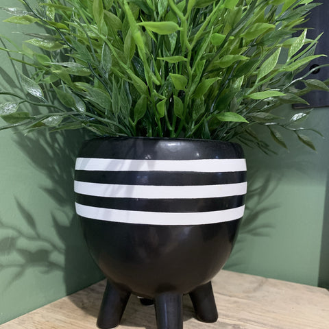 Leggy Striped Boho Planter