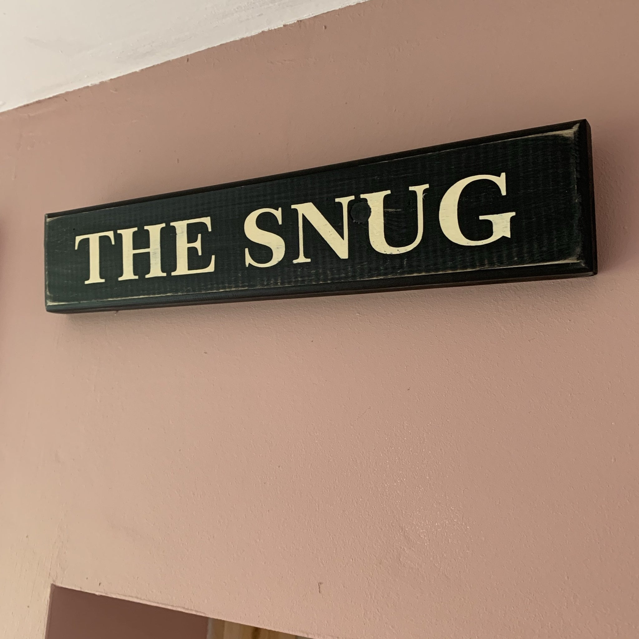 Snug Wooden Sign