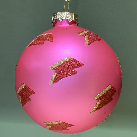 Pink Bowie Christmas decoration