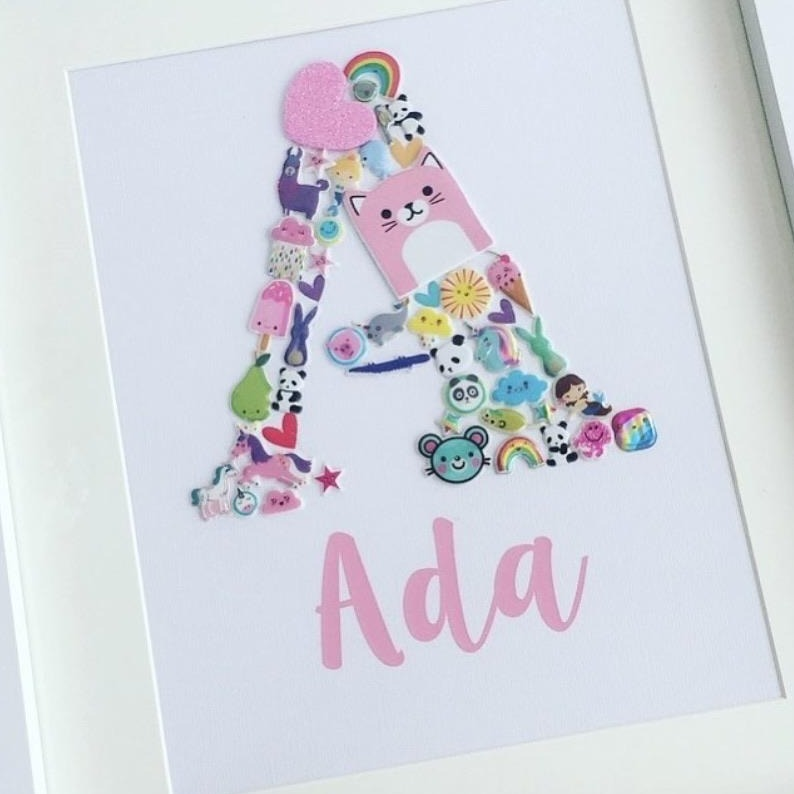 Personalised Sticker Initial Frame