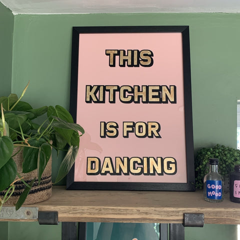 This Kitchen Gold Foiled Handmade Typography Art